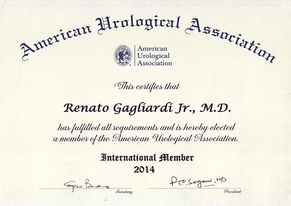 Certificado da AUA