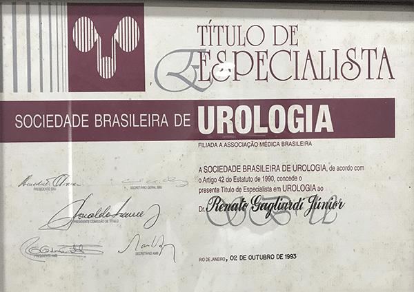 Certificado de título de especialista
