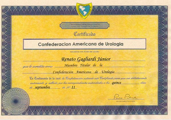 Certificado de membro do CAU